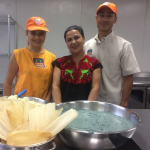 Loreta Ruiz (center) runs La Vegana Mexicana, a food pop-up based in Southern California, with her children, Loreta Sierra (left) and Luis Sierra.